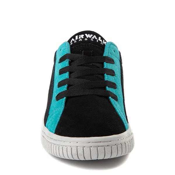 alternate view Mens Airwalk The One Skate Shoe - Black / Gray / TurquoiseALT4