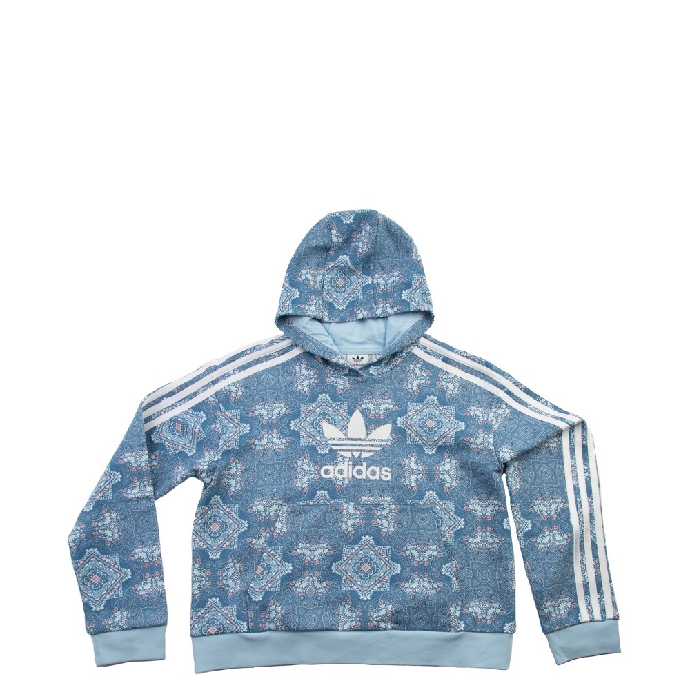 adidas Culture Clash Cropped Hoodie - Girls Little Kid