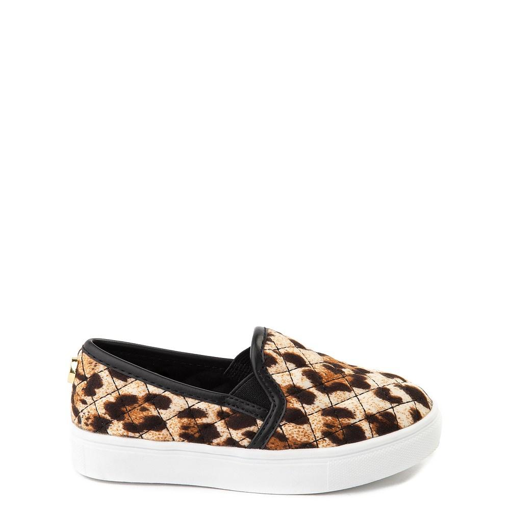 Steve Madden Ecentrcq Slip On Casual Shoe - Toddler / Little Kid - Black / Leopard