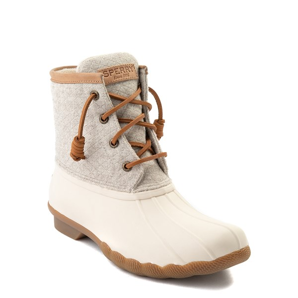 alternate view Womens Sperry Top-Sider Saltwater Wool Boot - IvoryALT1