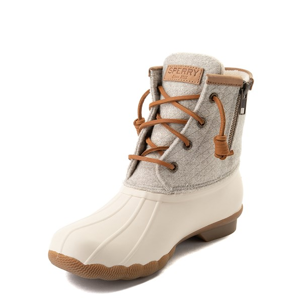 alternate view Womens Sperry Top-Sider Saltwater Wool Boot - IvoryALT3