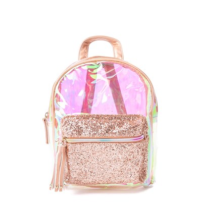 Main view of Clear Sparkle Mini Backpack