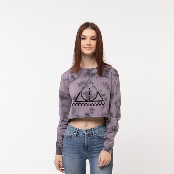 Womens Vans x Harry Potter Deathly Hallows Cropped Long Sleeve Tee - Purple
