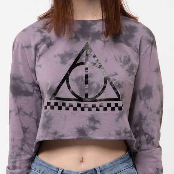 alternate view Womens Vans x Harry Potter Deathly Hallows Cropped Long Sleeve TeeALT4