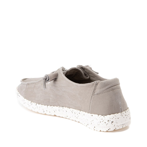 alternate view Womens Hey Dude Wendy Slip On Casual Shoe - GrayALT1