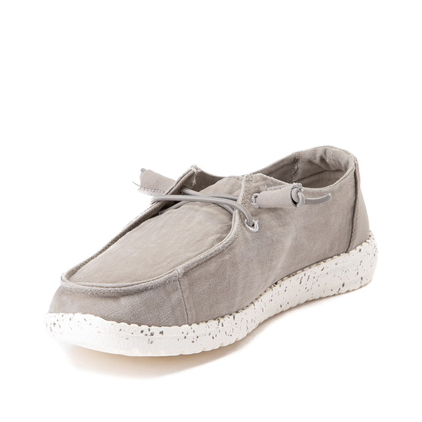 alternate view Womens Hey Dude Wendy Slip On Casual Shoe - GrayALT2