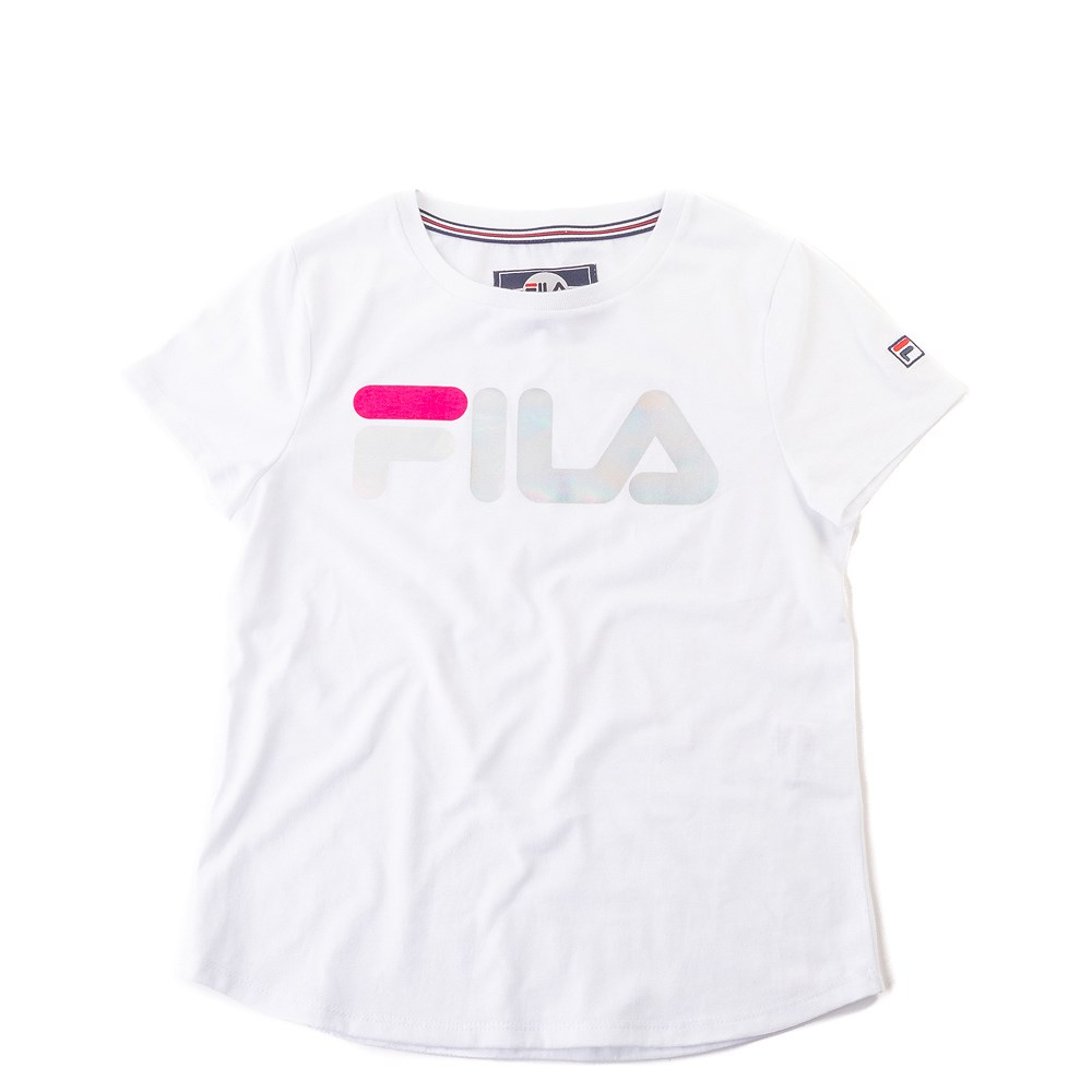 Fila Foil Logo Tee - Girls Little Kid