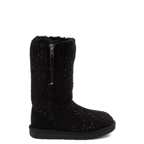 Default view of UGG® Knit Sequin Boot - Little Kid / Big Kid - Black