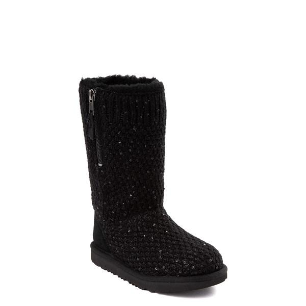 alternate view UGG® Knit Sequin Boot - Little Kid / Big Kid - BlackALT1
