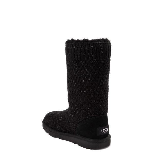 alternate view UGG® Knit Sequin Boot - Little Kid / Big Kid - BlackALT2