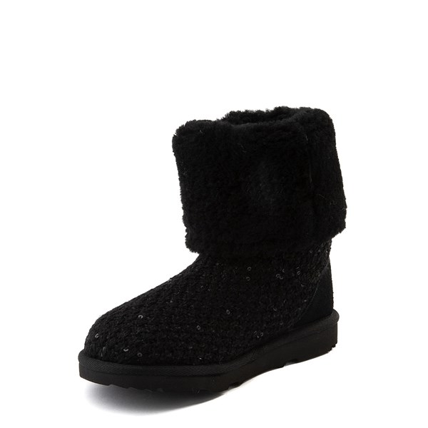 alternate view UGG® Knit Sequin Boot - Little Kid / Big Kid - BlackALT3