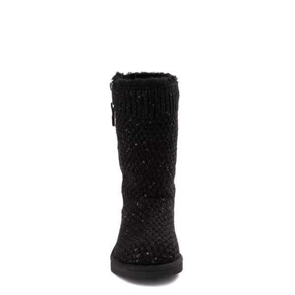 alternate view UGG® Knit Sequin Boot - Little Kid / Big Kid - BlackALT4