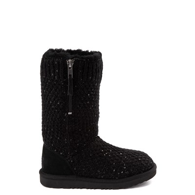 Main view of UGG® Knit Sequin Boot - Little Kid / Big Kid - Black