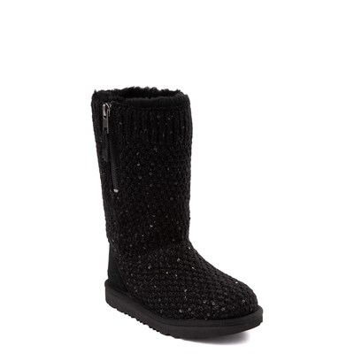 Alternate view of UGG® Knit Sequin Boot - Little Kid / Big Kid - Black