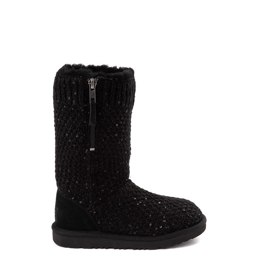 UGG® Knit Sequin Boot - Little Kid / Big Kid - Black