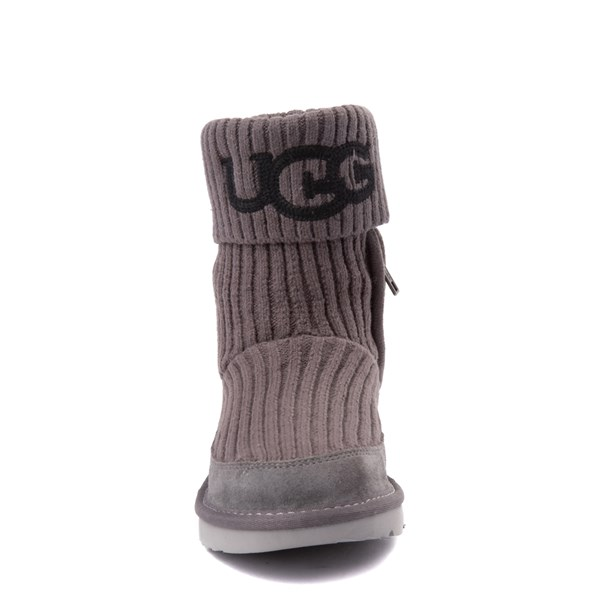alternate view UGG® Knit Boot - Little Kid / Big Kid - CharcoalALT4