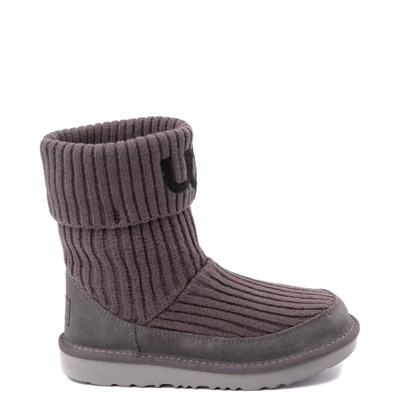 Main view of UGG® Knit Boot - Little Kid / Big Kid - Charcoal