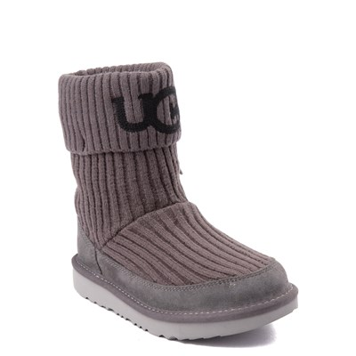 Alternate view of UGG® Knit Boot - Little Kid / Big Kid - Charcoal