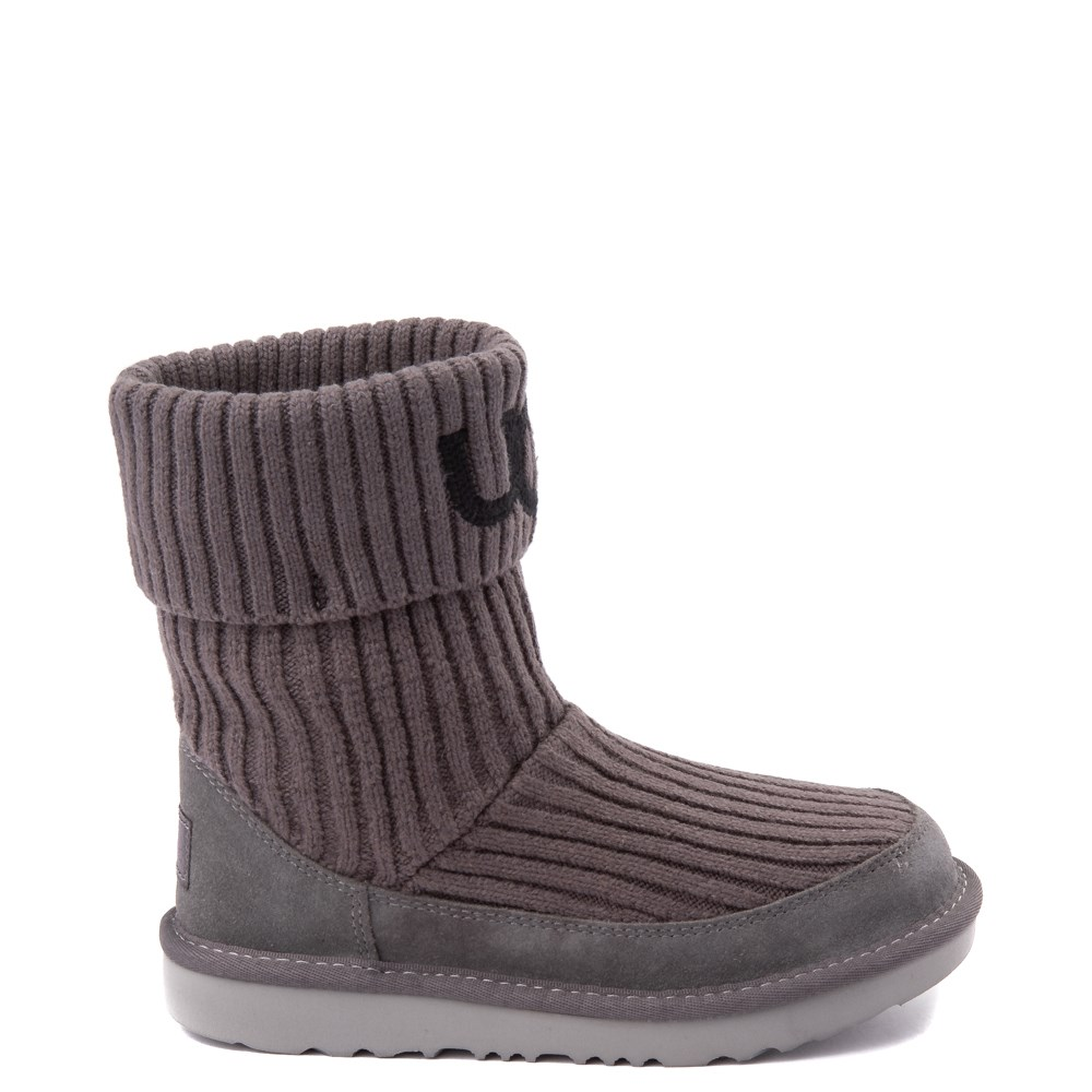 UGG® Knit Boot - Little Kid / Big Kid - Charcoal