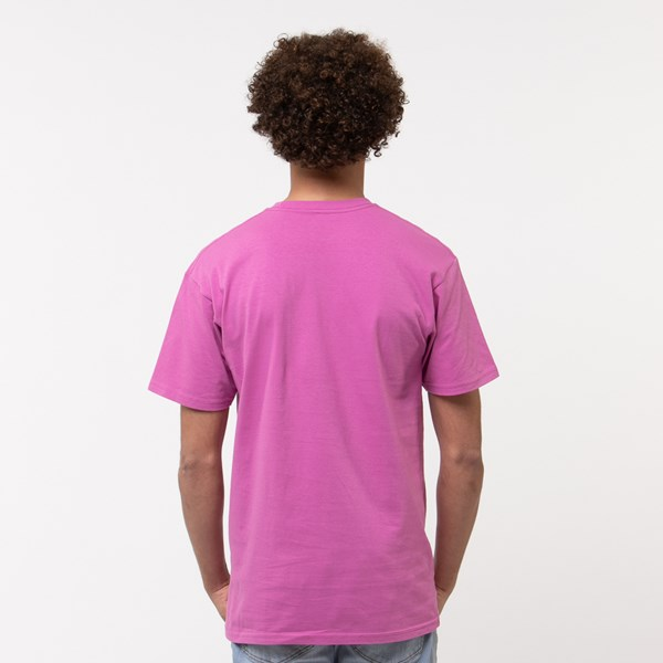 Alternate view of Mens Vans Classic Drop V Crew Tee - Fuchsia
