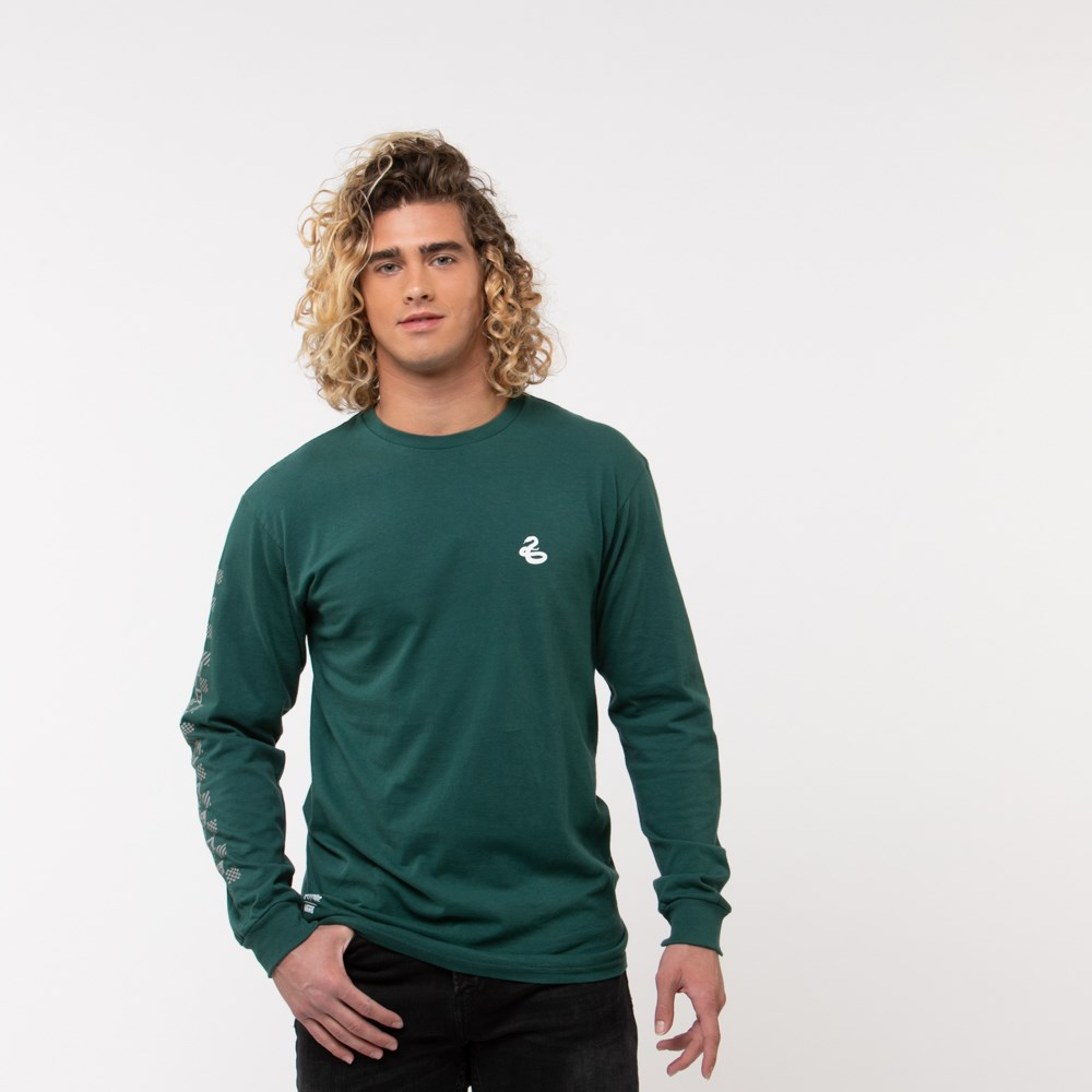 Mens Vans x Harry Potter Slytherin Long Sleeve Tee