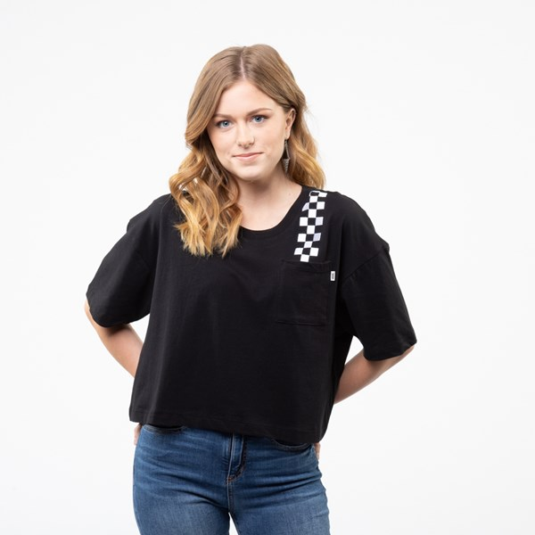 Womens Vans Fun Badge Cropped Tee