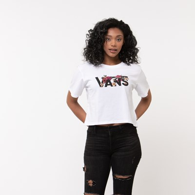Main view of Womens Vans Botanic Cropped Tee