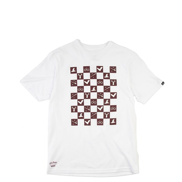 Default view of Vans x Harry Potter Icon Checkerboard Tee - Little Kid - White