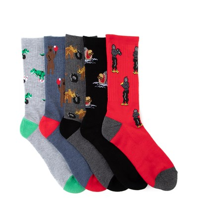 Main view of Mens Critter Crew Socks 5 Pack