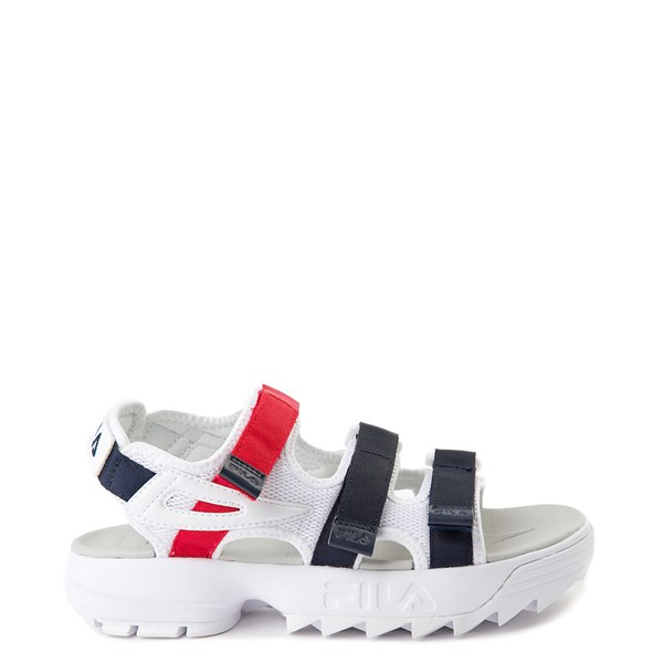 Womens Fila Disruptor Sandal - White / Navy / Red