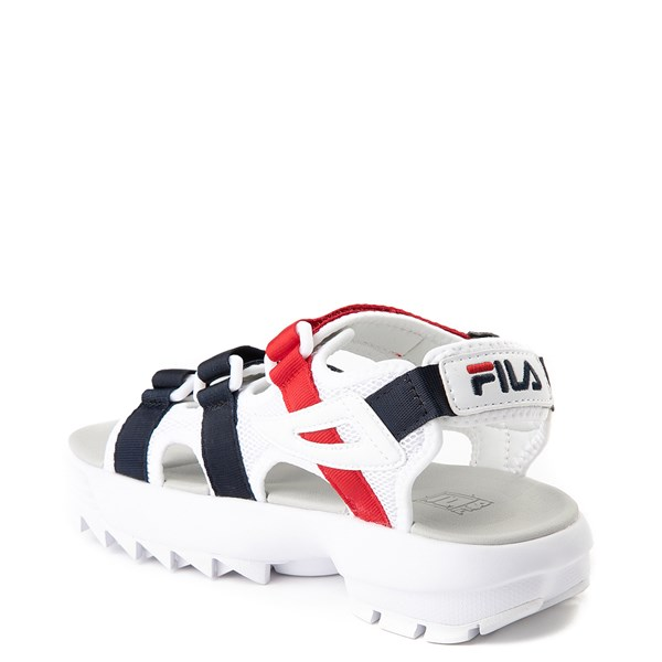 alternate view Womens Fila Disruptor Sandal - White / Navy / RedALT2