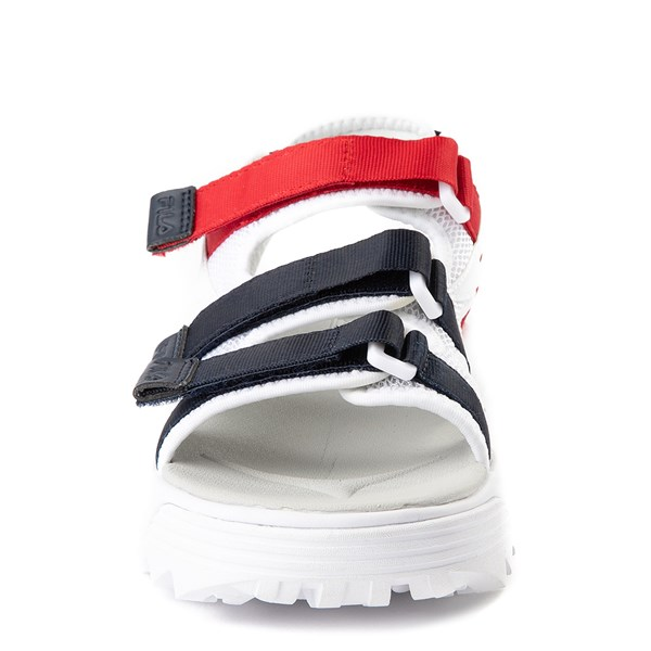 alternate view Womens Fila Disruptor Sandal - White / Navy / RedALT4