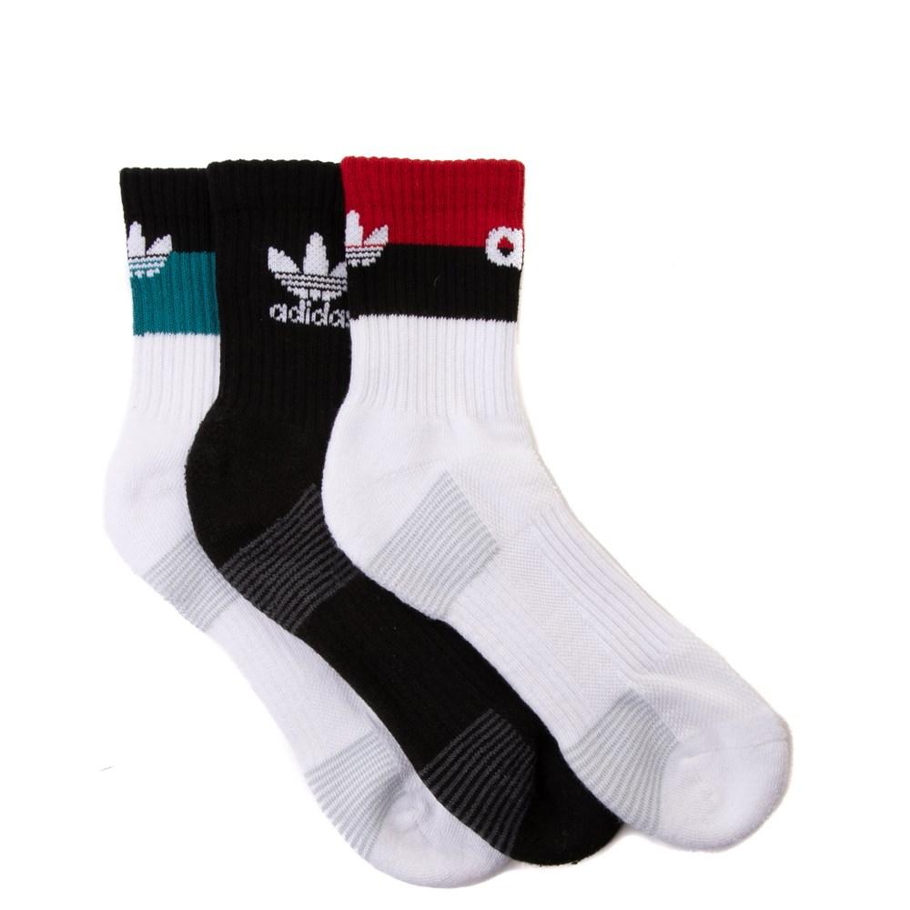 Mens adidas Trefoil Quarter Socks 3 Pack