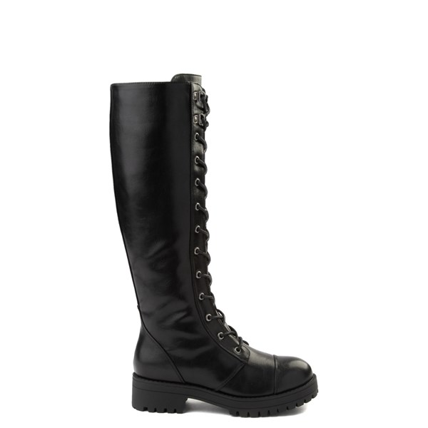 Womens Dirty Laundry Vandal Tall Combat Boot - Black