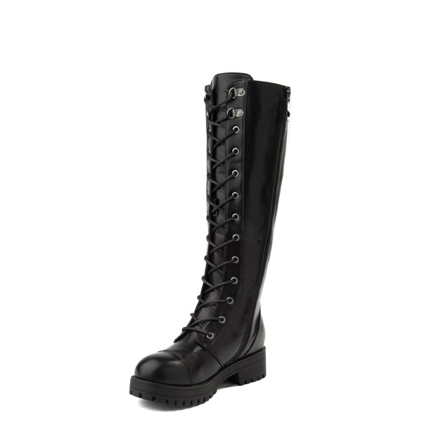 alternate view Womens Dirty Laundry Vandal Tall Combat Boot - BlackALT3