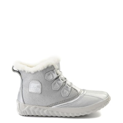 Main view of Womens Disney x Sorel Frozen 2 Out N About™ Plus Boot - Pure Silver