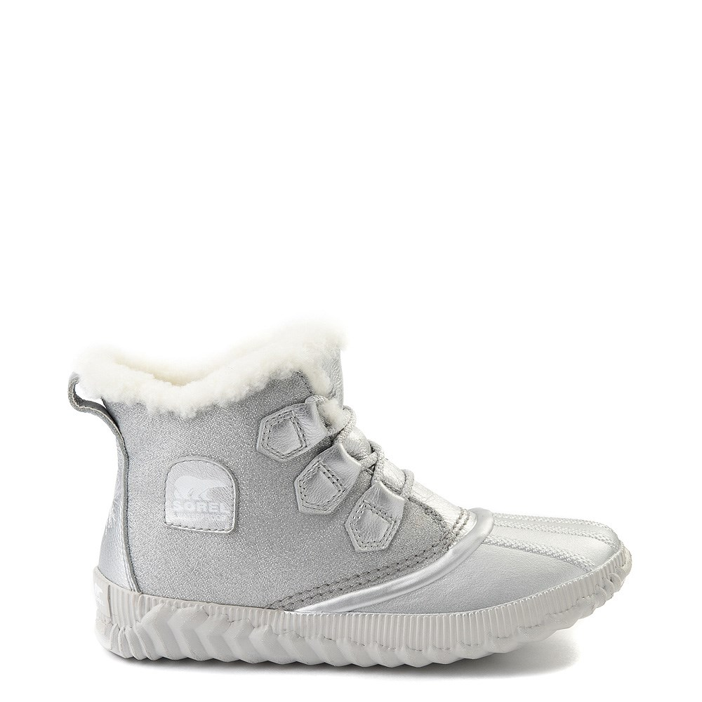 Womens Disney x Sorel Frozen 2 Out N About™ Plus Boot - Pure Silver