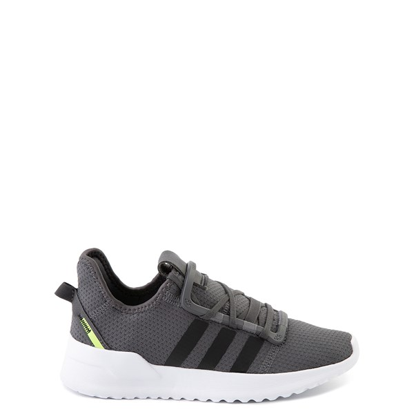 Main view of adidas U_Path Run Athletic Shoe - Little Kid - Gray / Black