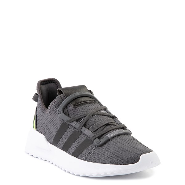 alternate view adidas U_Path Run Athletic Shoe - Little Kid - Gray / BlackALT1