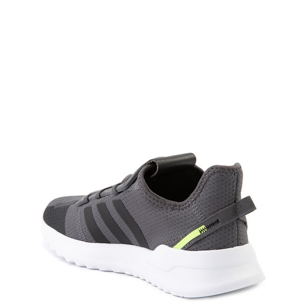 alternate view adidas U_Path Run Athletic Shoe - Little Kid - Gray / BlackALT2