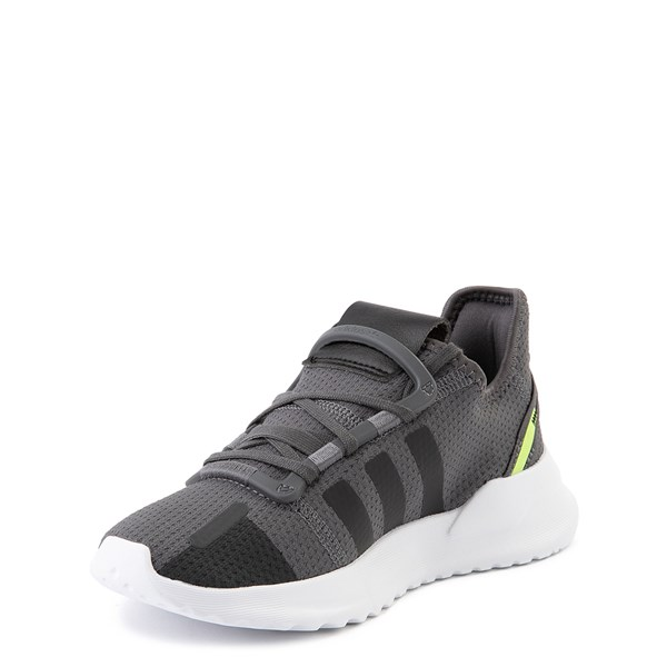 alternate view adidas U_Path Run Athletic Shoe - Little Kid - Gray / BlackALT3