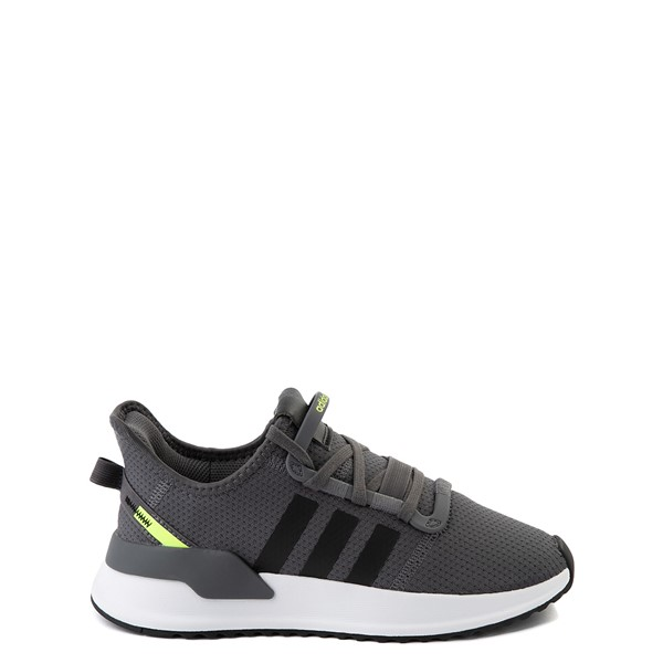 Main view of adidas U_Path Run Athletic Shoe - Big Kid - Gray / Black