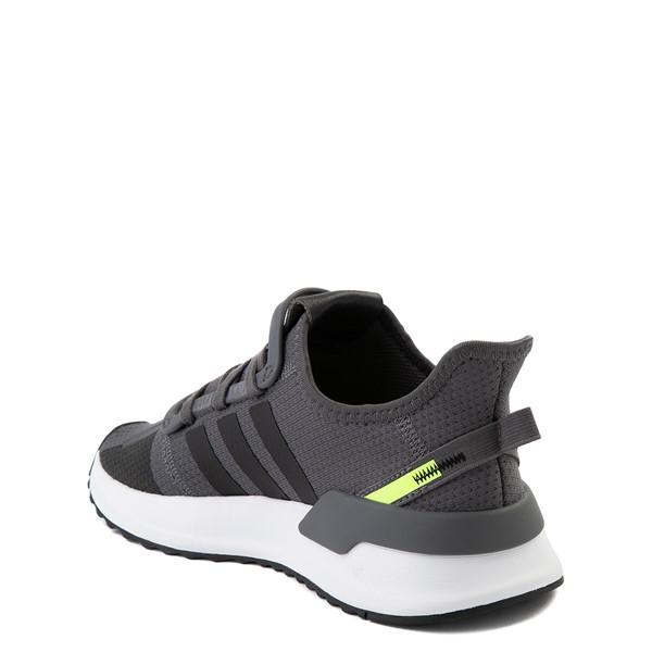 alternate view adidas U_Path Run Athletic Shoe - Big Kid - Gray / BlackALT1