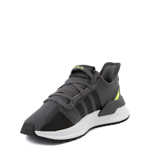 alternate view adidas U_Path Run Athletic Shoe - Big Kid - Gray / BlackALT2