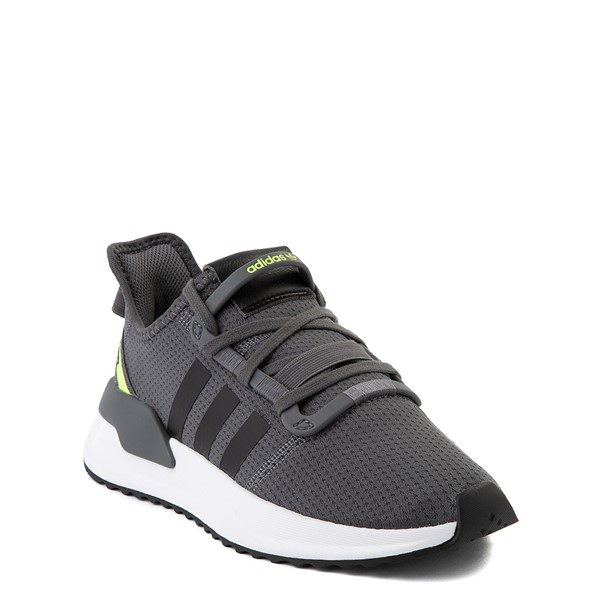 alternate view adidas U_Path Run Athletic Shoe - Big Kid - Gray / BlackALT5