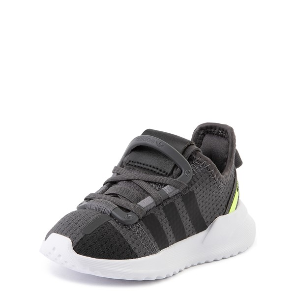 alternate view adidas U_Path Run Athletic Shoe - Baby / Toddler - Gray / BlackALT2