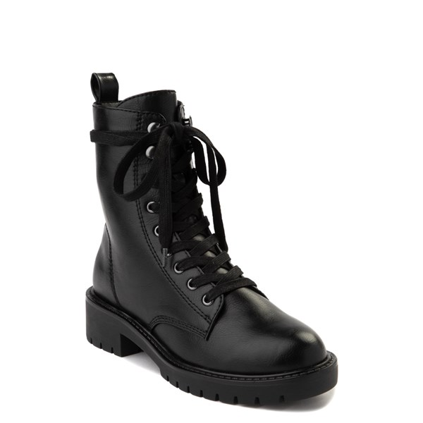 alternate view Womens Madden Girl Parker Combat Boot - BlackALT1