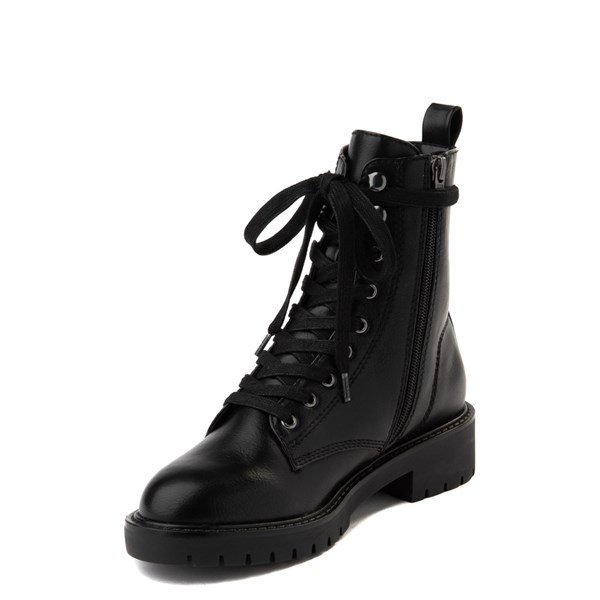 alternate view Womens Madden Girl Parker Combat Boot - BlackALT3