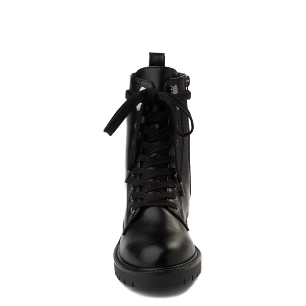 alternate view Womens Madden Girl Parker Combat Boot - BlackALT4