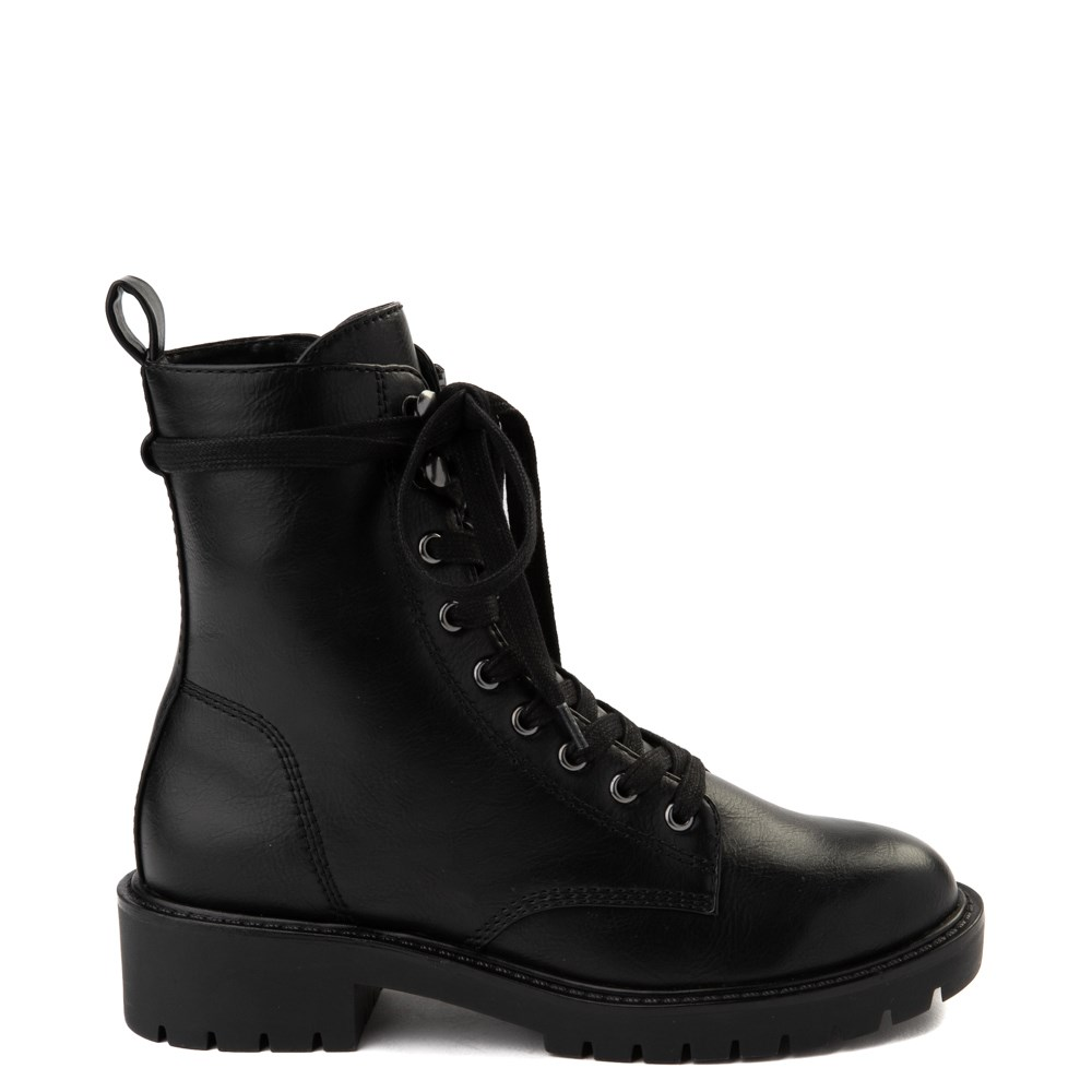 Womens Madden Girl Parker Combat Boot - Black